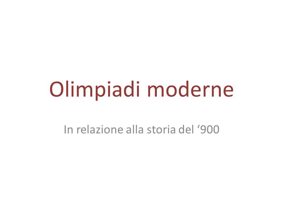 In relazione alla storia del '900