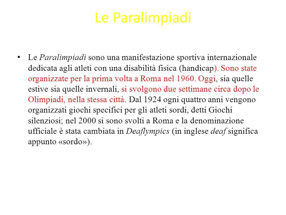 Le Paralimpiadi