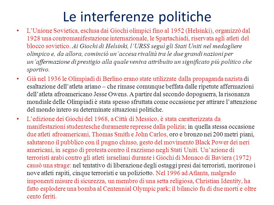 Le interferenze politiche