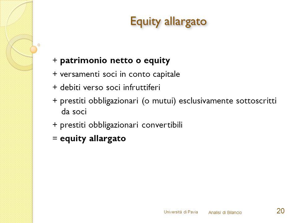 Equity allargato