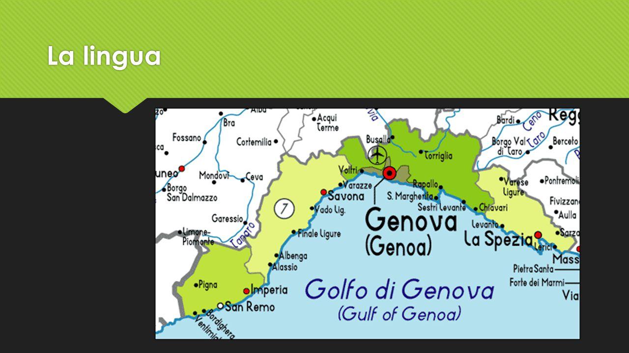 La lingua Monterosso al mare si stat allontata del dialetto di Spezia per avere il dialetto di Genova.