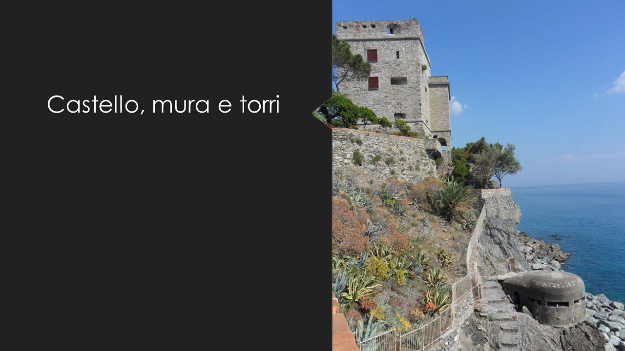 Castello, mura e torri Restano anche imponente ruderi