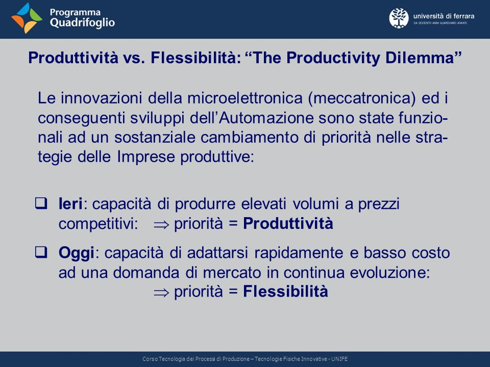 Produttività vs. Flessibilità: The Productivity Dilemma