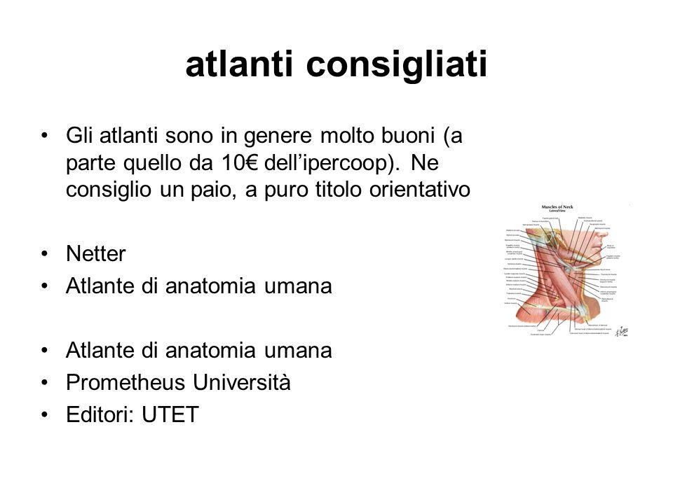 atlanti consigliati Gli atlanti sono in genere molto buoni (a parte quello da 10€ dell'ipercoop). Ne consiglio un paio, a puro titolo orientativo.