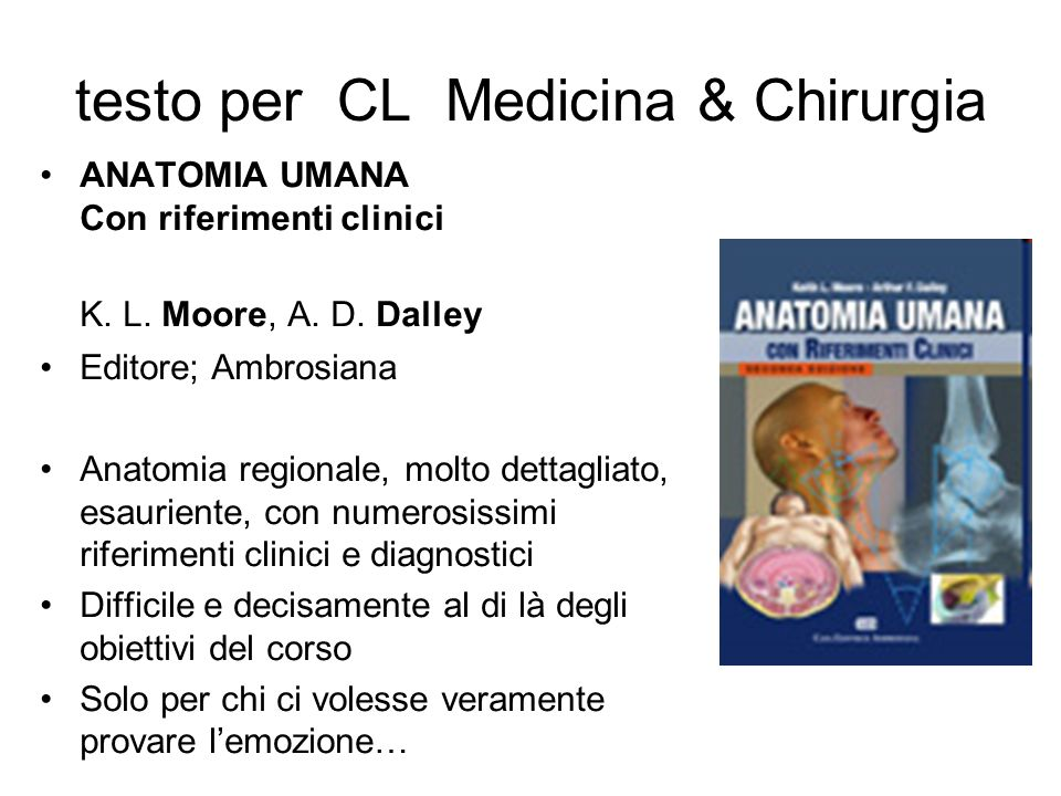 testo per CL Medicina & Chirurgia