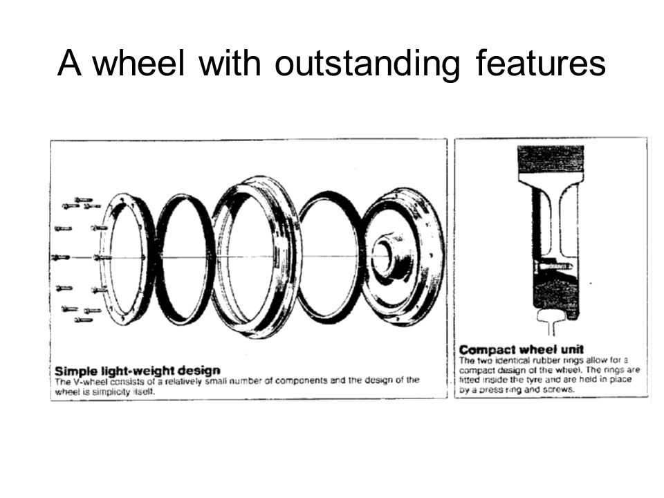 A wheel with outstanding features