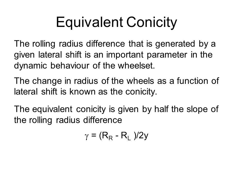 Equivalent Conicity