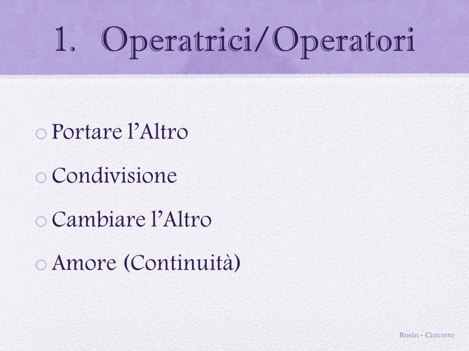 Operatrici/Operatori
