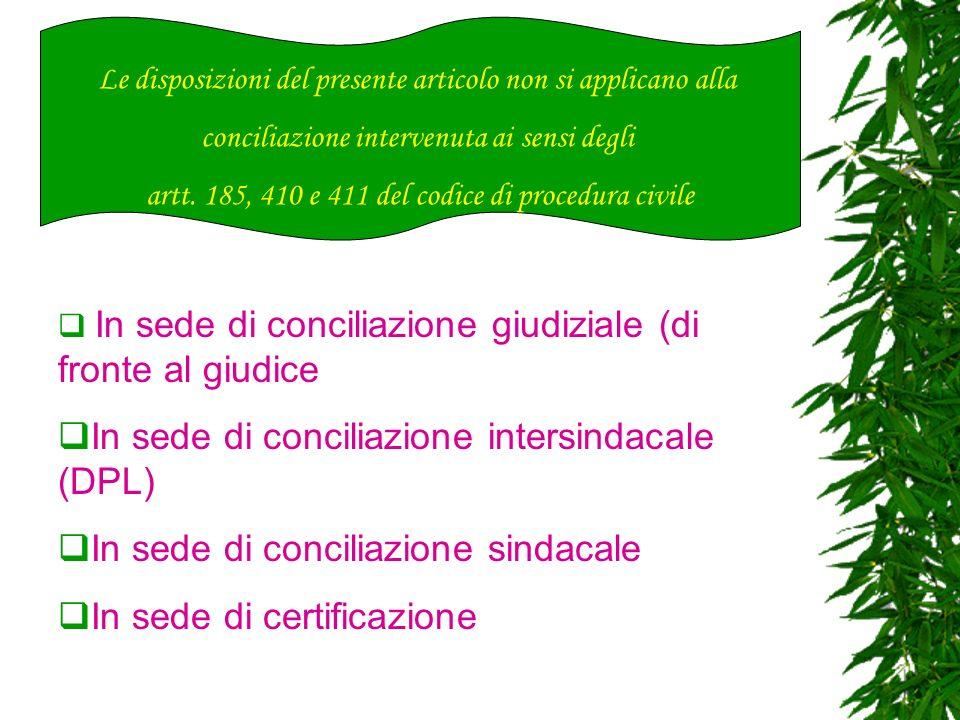 In sede di conciliazione intersindacale (DPL)