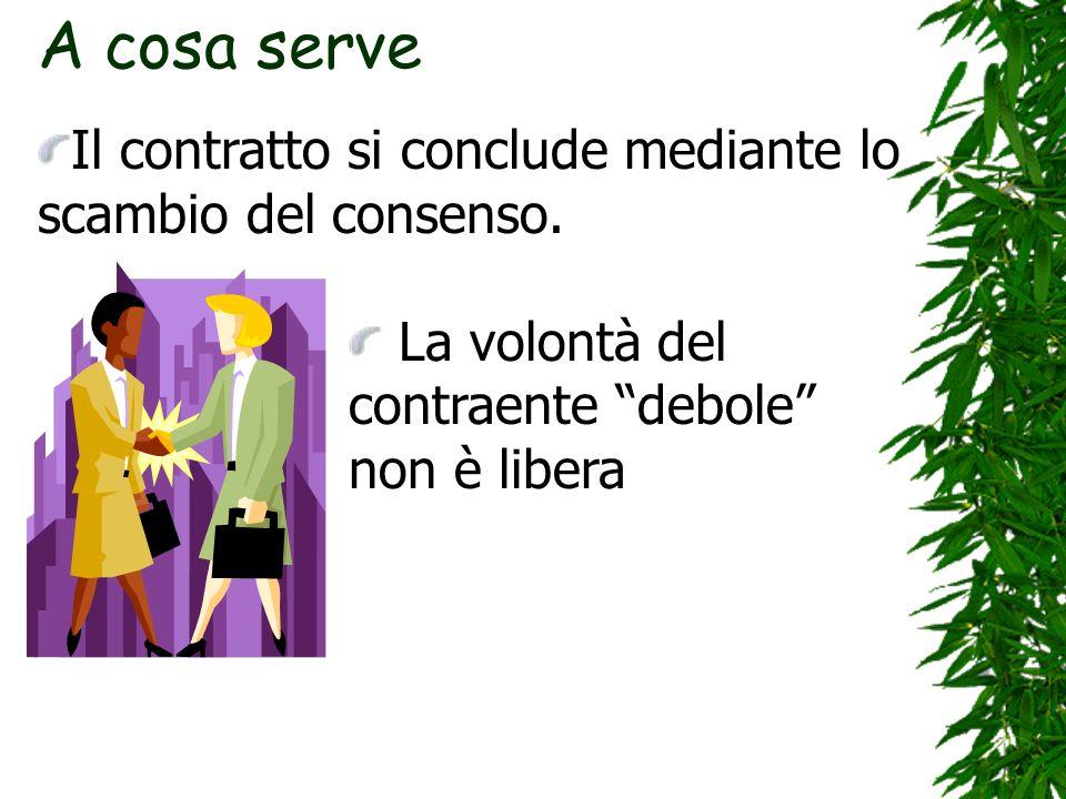 A cosa serveIl contratto si conclude mediante lo scambio del consenso.