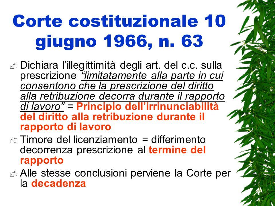 Corte costituzionale 10 giugno 1966, n. 63