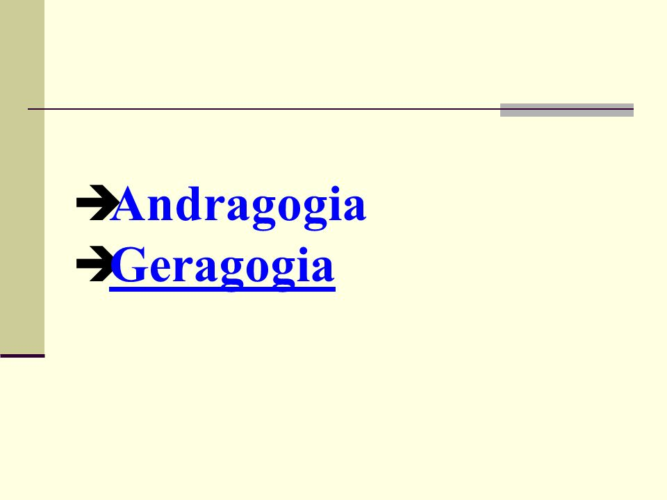 Andragogia Geragogia