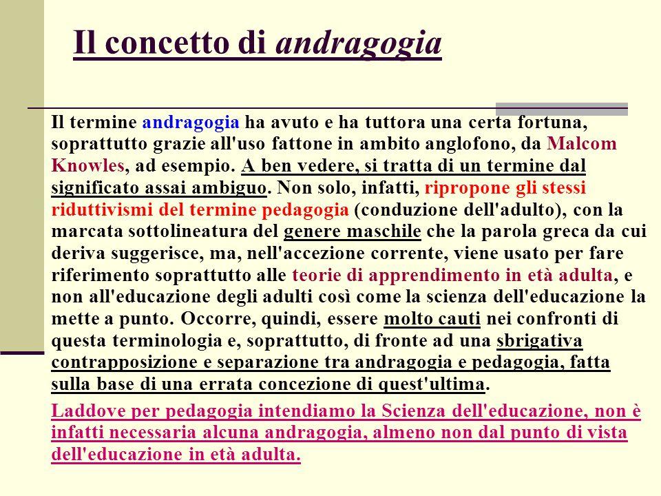 Il concetto di andragogia