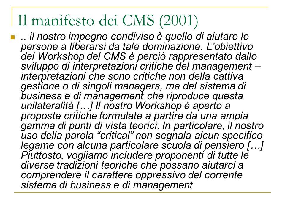 Il manifesto dei CMS (2001)