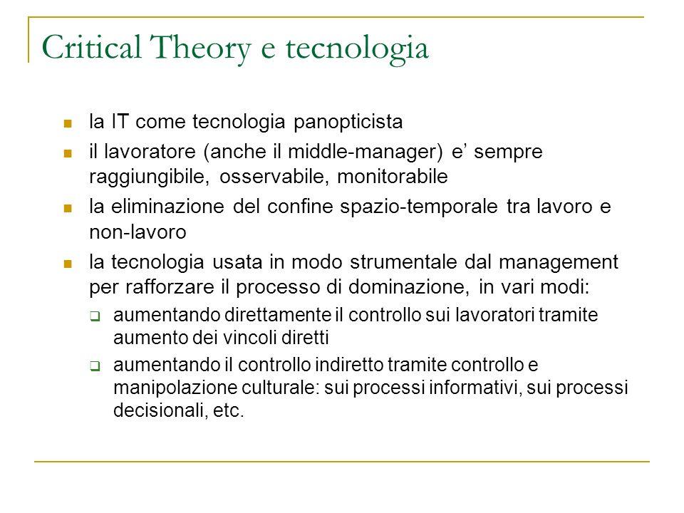 Critical Theory e tecnologia