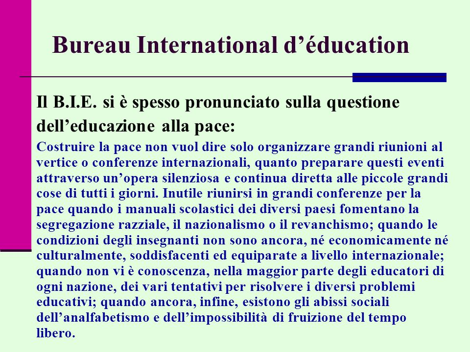 Bureau International d'éducation