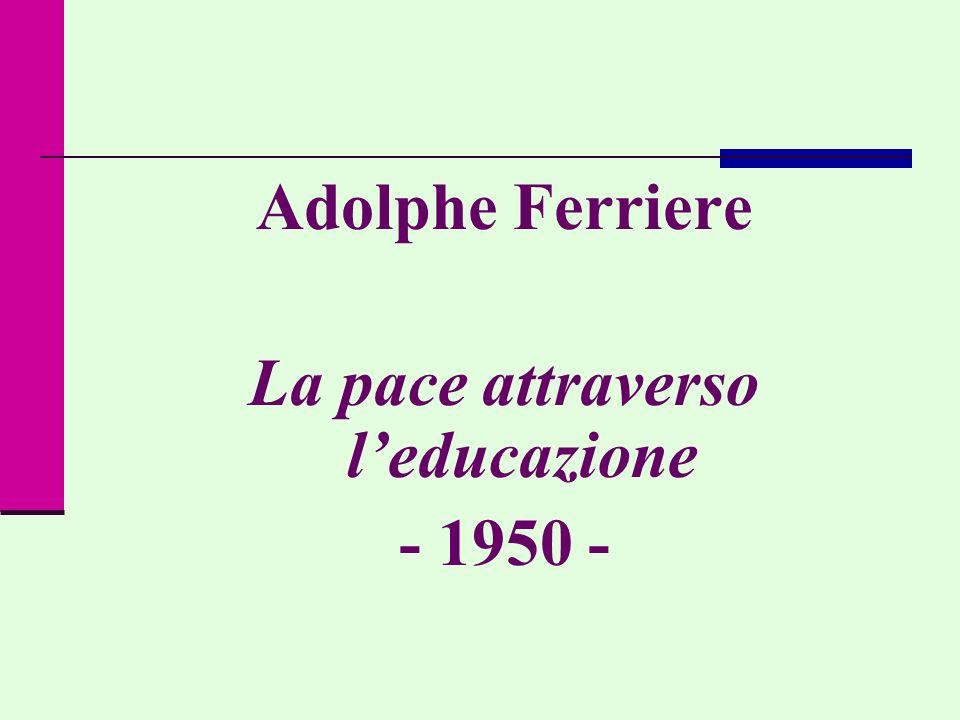 La pace attraverso l'educazione