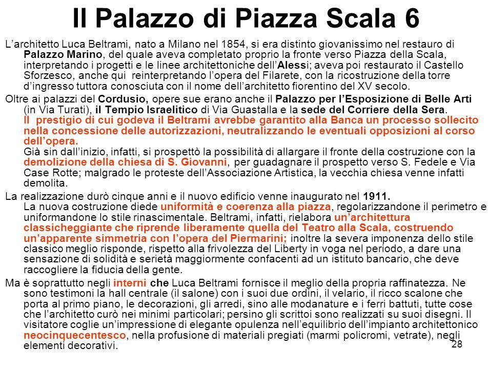 Il Palazzo di Piazza Scala 6
