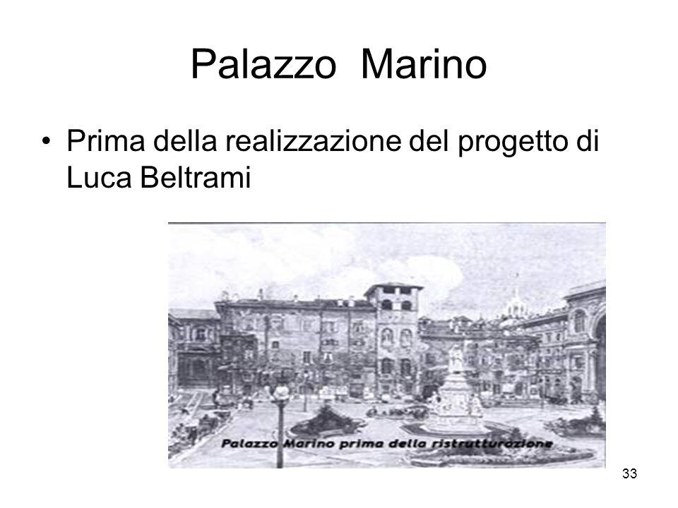 Palazzo Marino Prima della realizzazione del progetto di Luca Beltrami