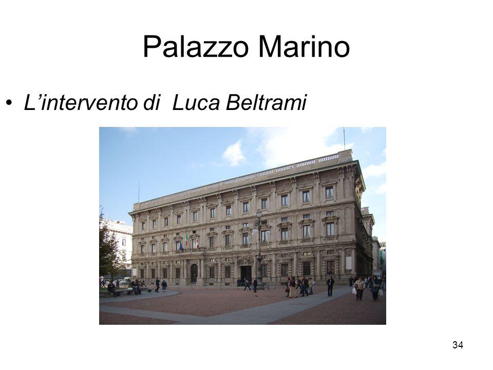 Palazzo Marino L'intervento di Luca Beltrami
