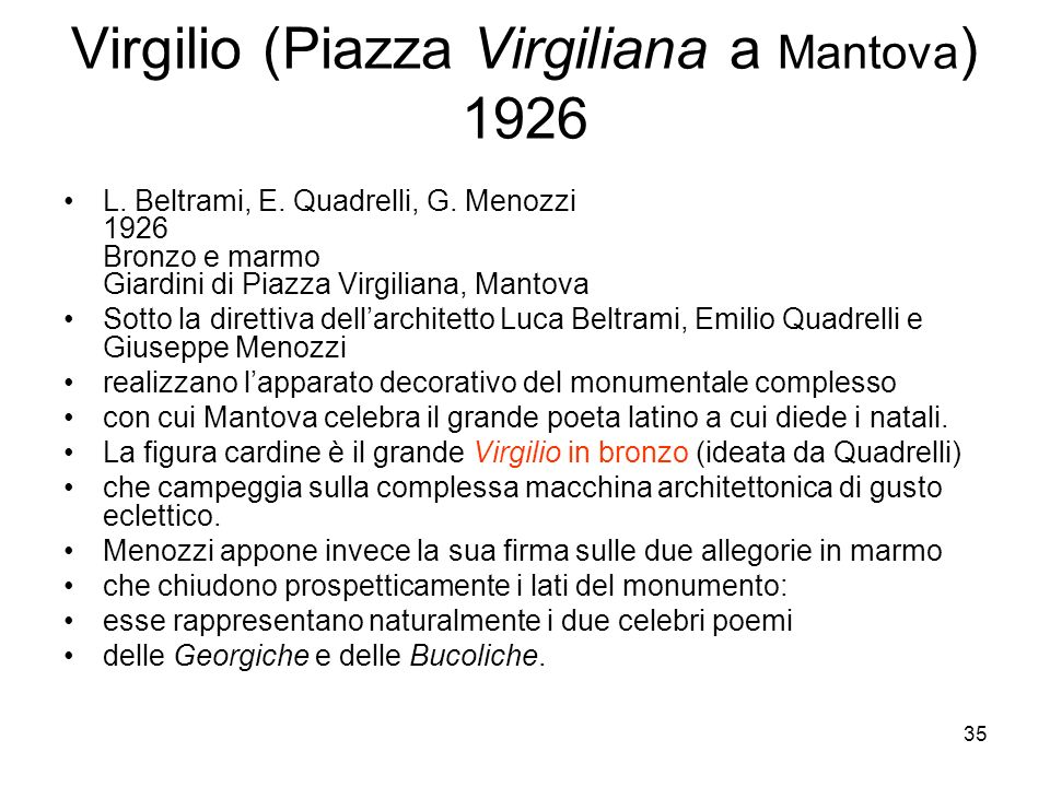 Virgilio (Piazza Virgiliana a Mantova) 1926