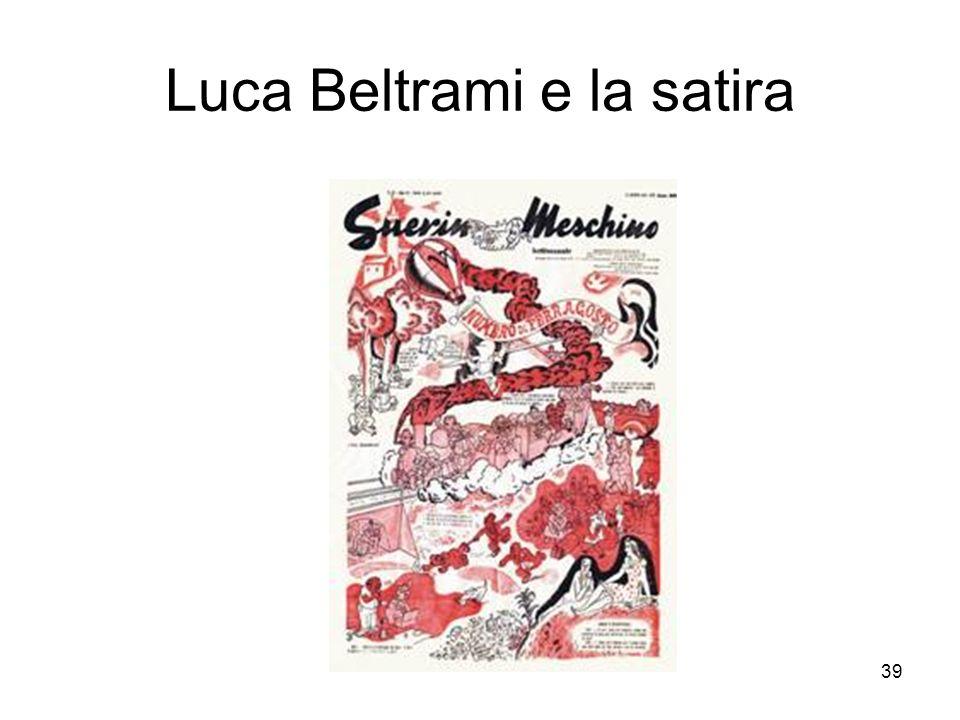 Luca Beltrami e la satira