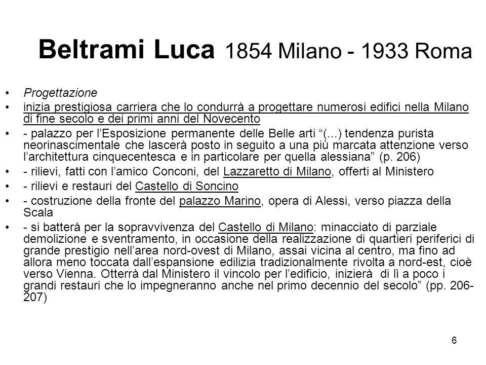Beltrami Luca 1854 Milano - 1933 Roma