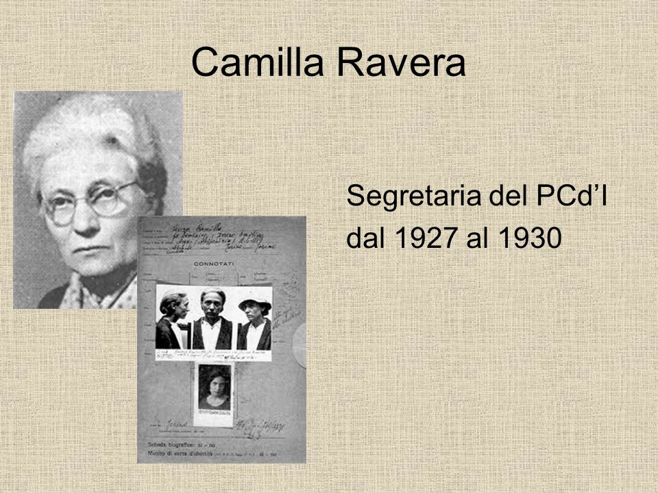 Camilla Ravera Segretaria del PCd'I dal 1927 al 1930