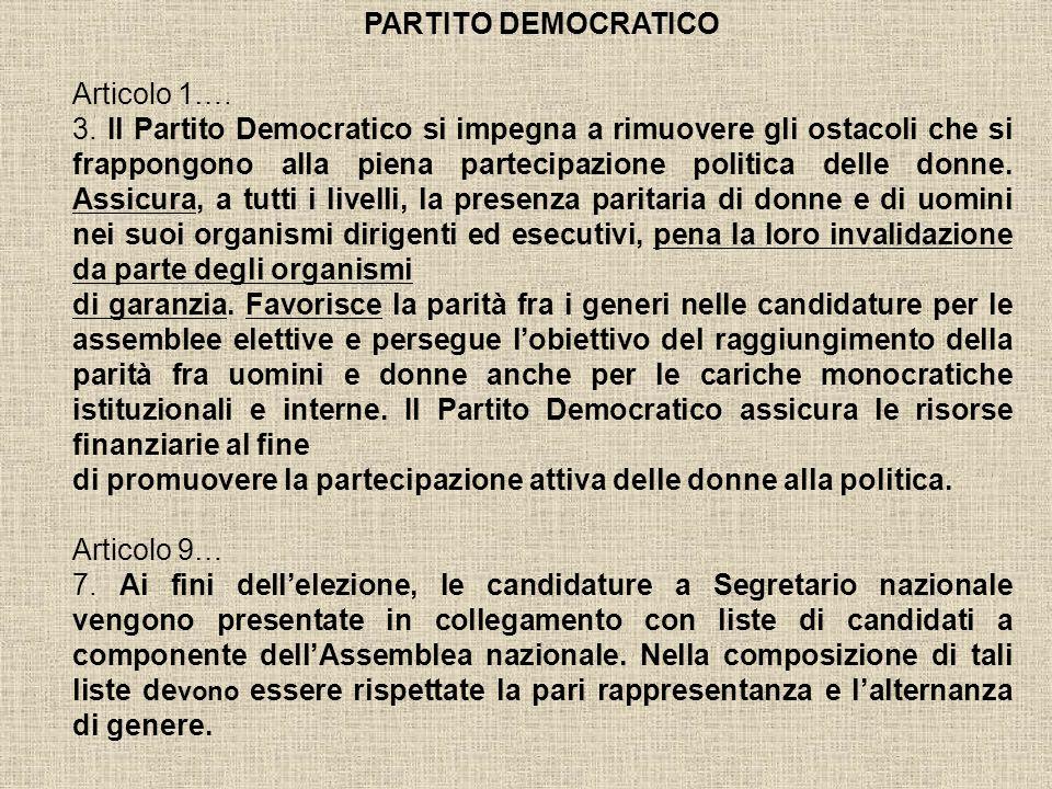 PARTITO DEMOCRATICO Articolo 1….