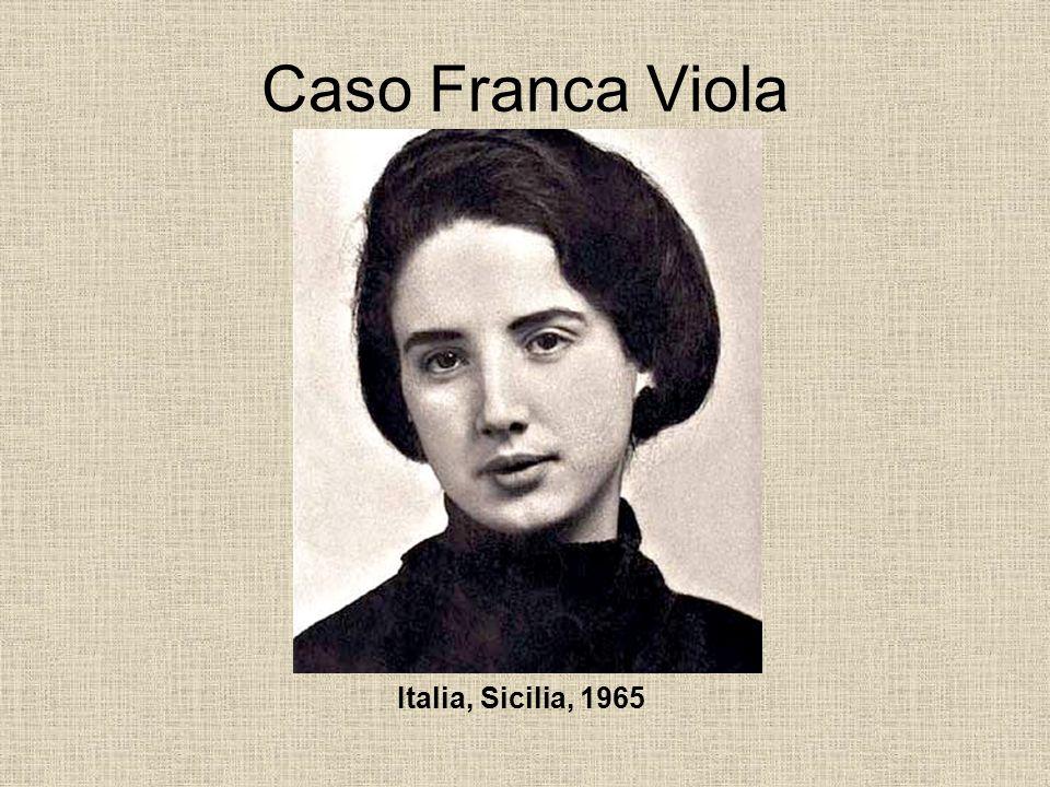 Caso Franca Viola Italia, Sicilia, 1965