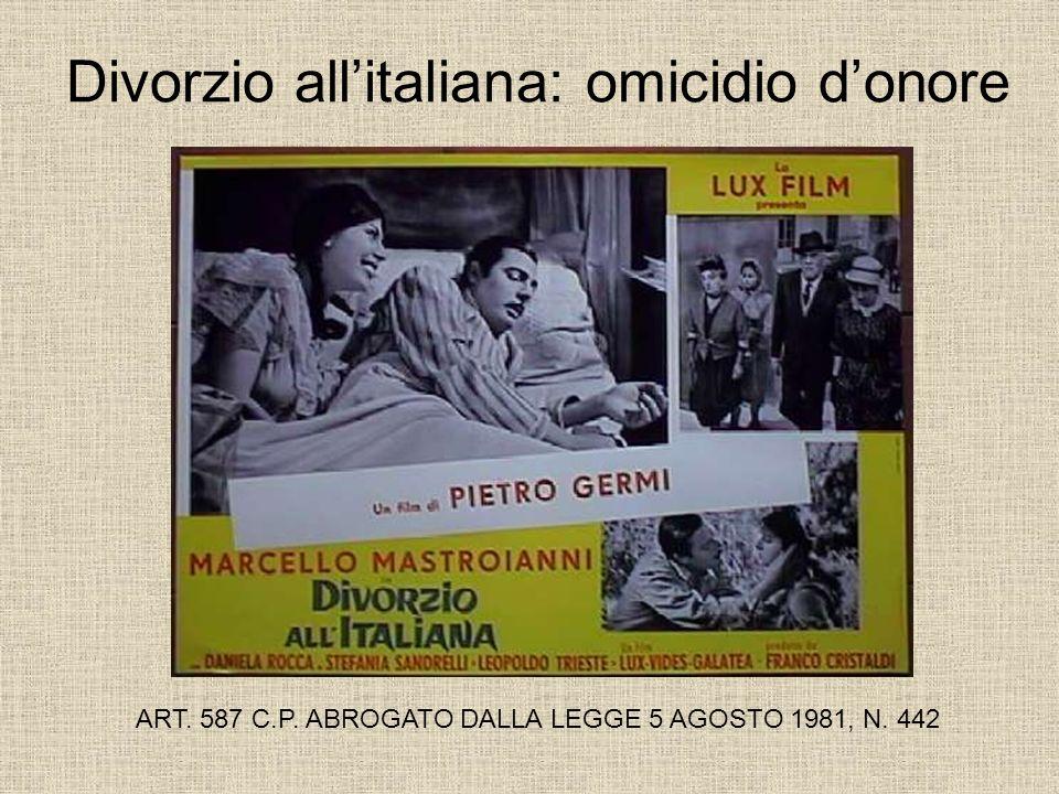 Divorzio all'italiana: omicidio d'onore