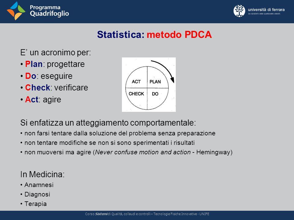 Statistica: metodo PDCA