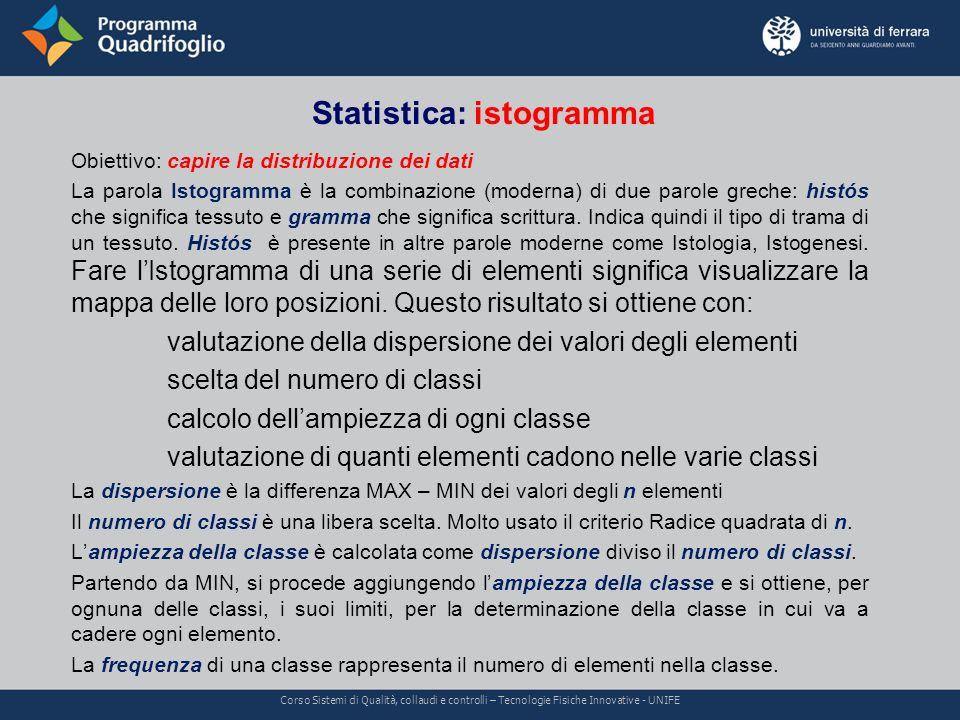Statistica: istogramma