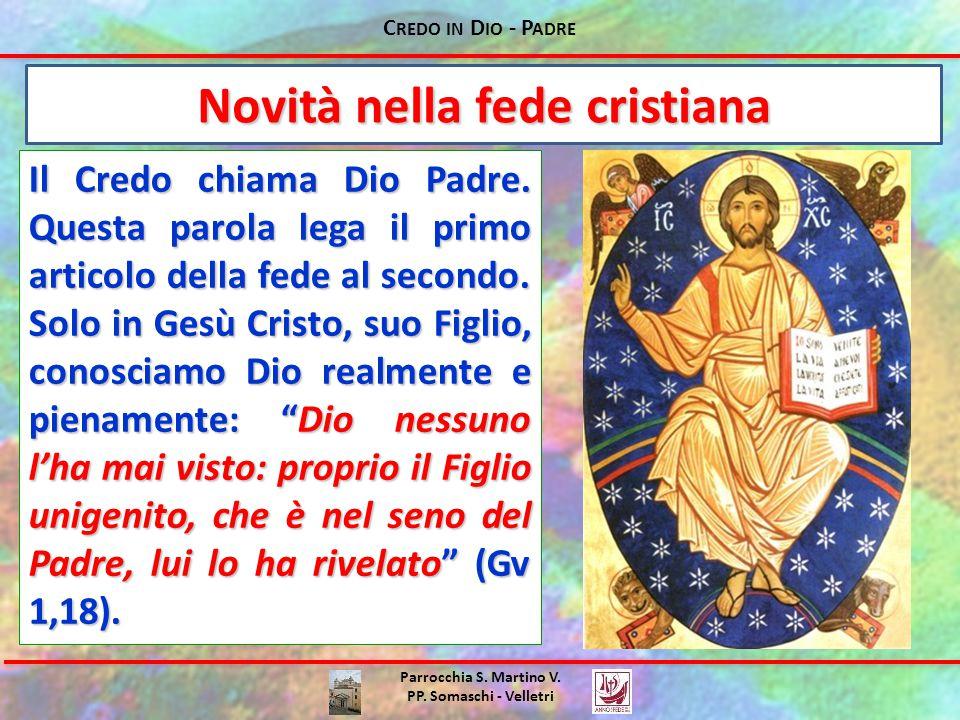 Novità nella fede cristiana