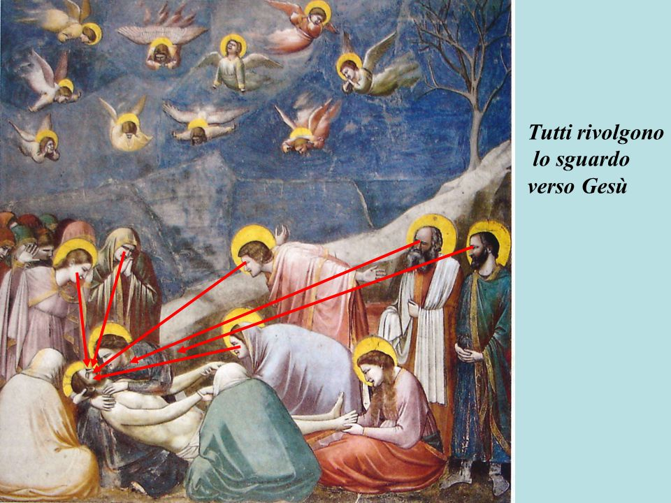 Tutti rivolgono lo sguardo verso Gesù