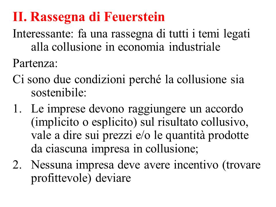 II. Rassegna di Feuerstein