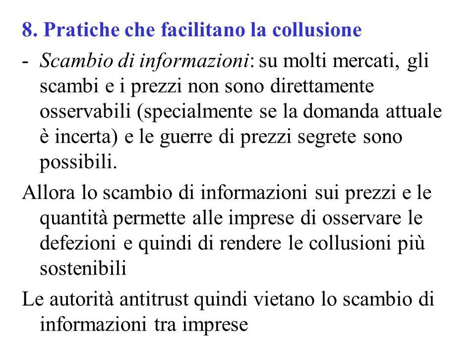 8. Pratiche che facilitano la collusione