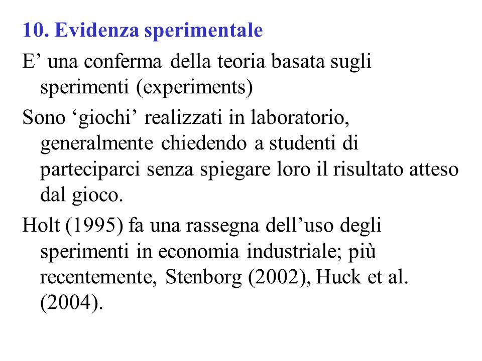 10. Evidenza sperimentale