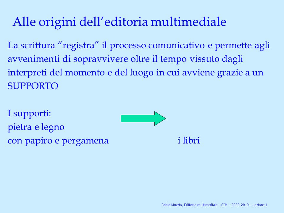 Alle origini dell'editoria multimediale
