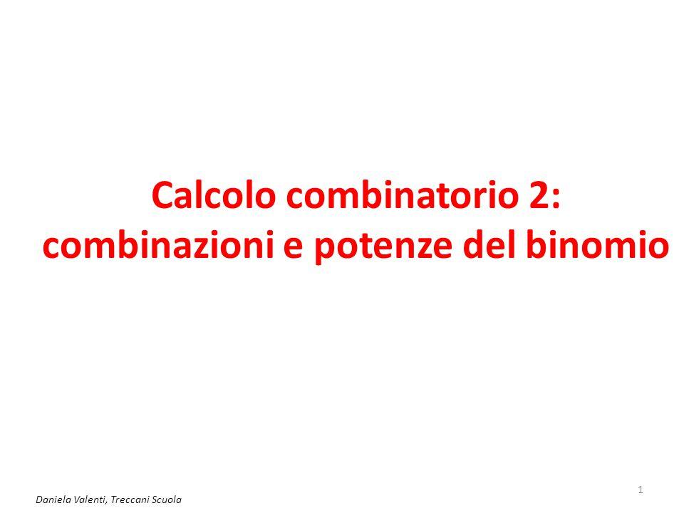 Calcolo combinatorio 2: combinazioni e potenze del binomio