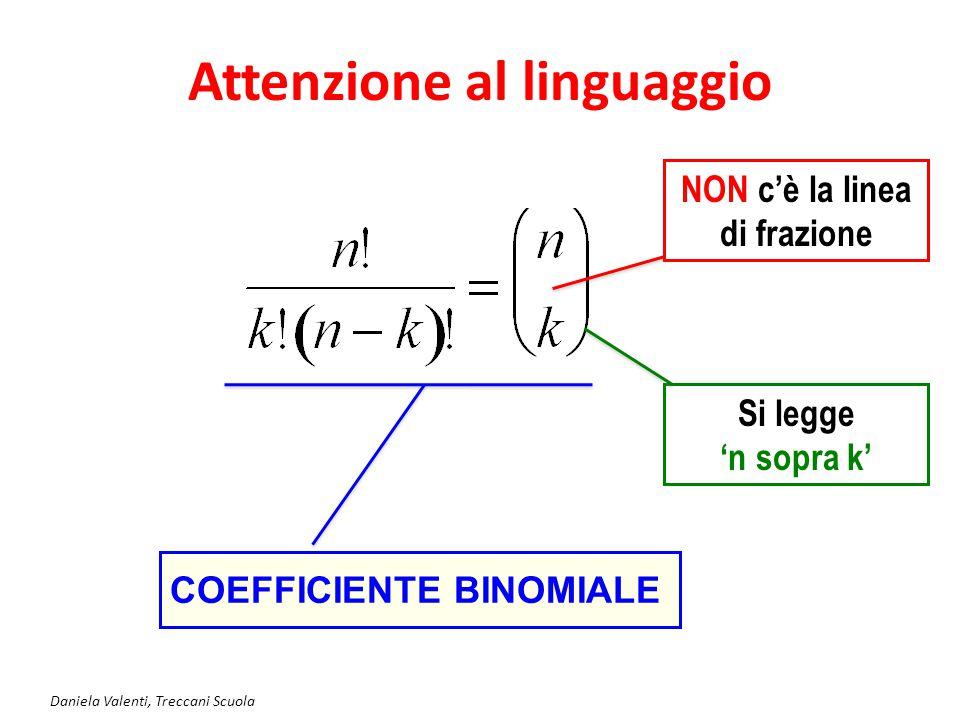 Attenzione al linguaggio NON c'è la linea di frazione