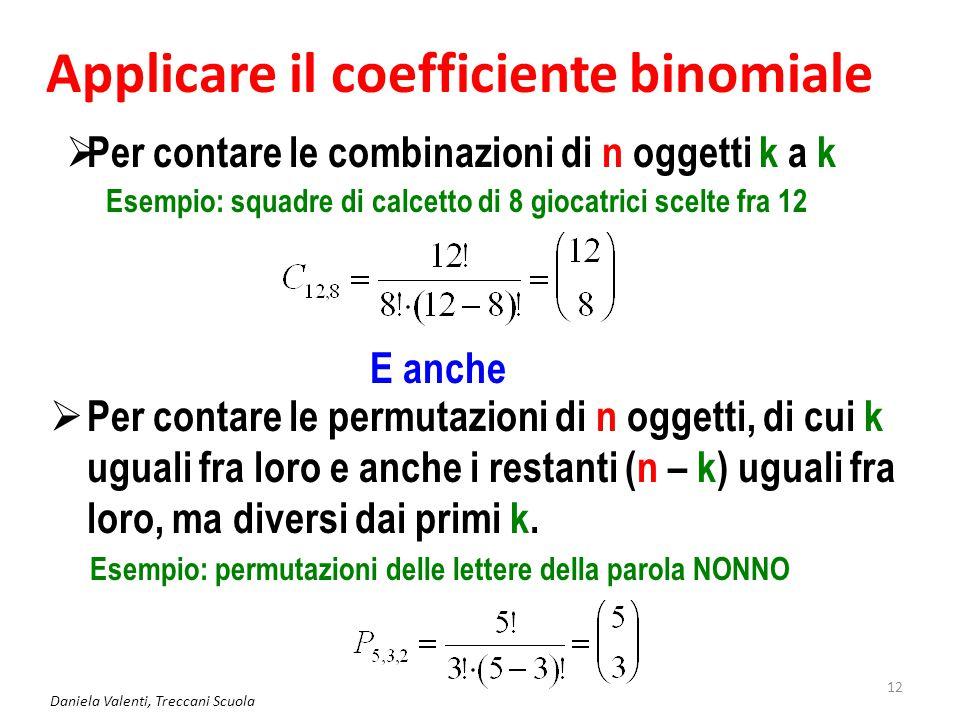 Applicare il coefficiente binomiale