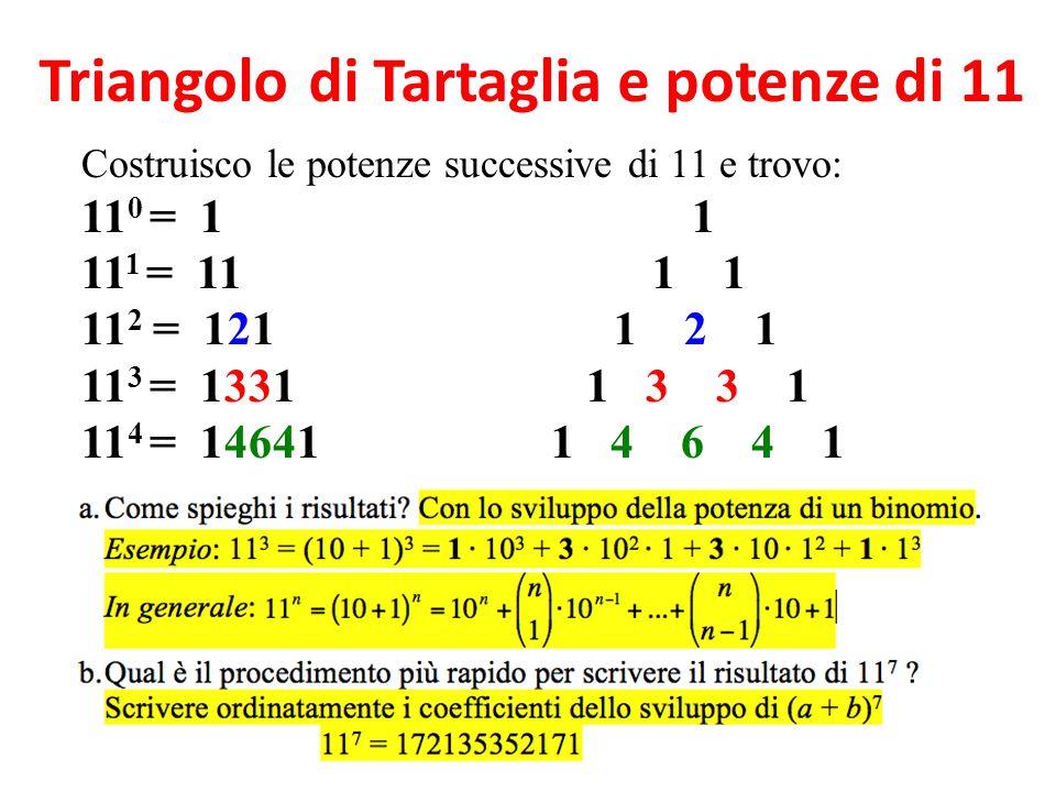 Triangolo di Tartaglia e potenze di 11
