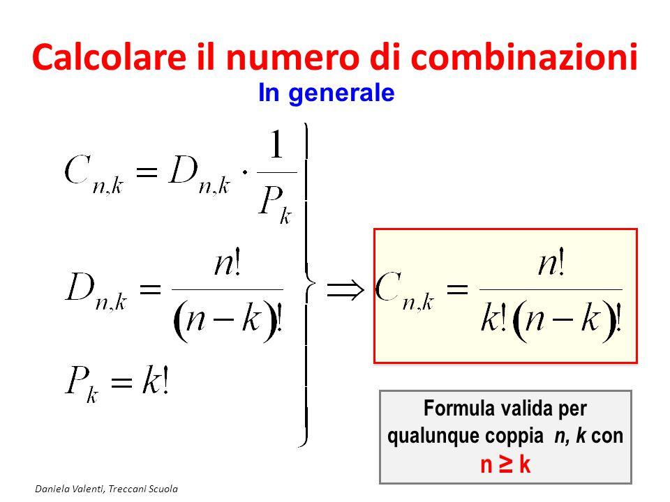 Calcolare il numero di combinazioni