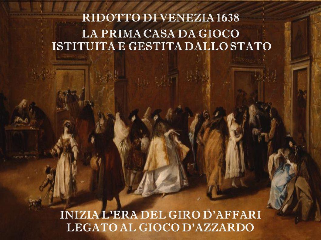 ISTITUITA E GESTITA DALLO STATO