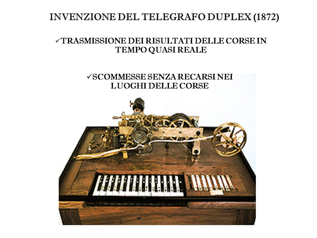 INVENZIONE DEL TELEGRAFO DUPLEX (1872)
