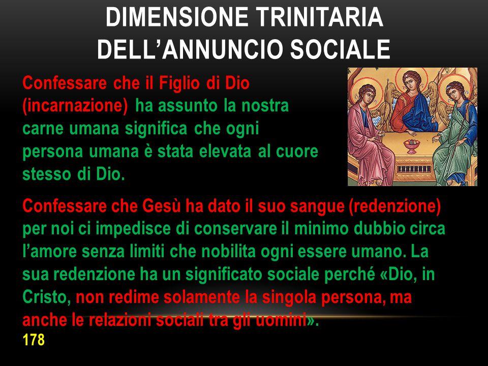 Dimensione trinitaria dell'annuncio sociale