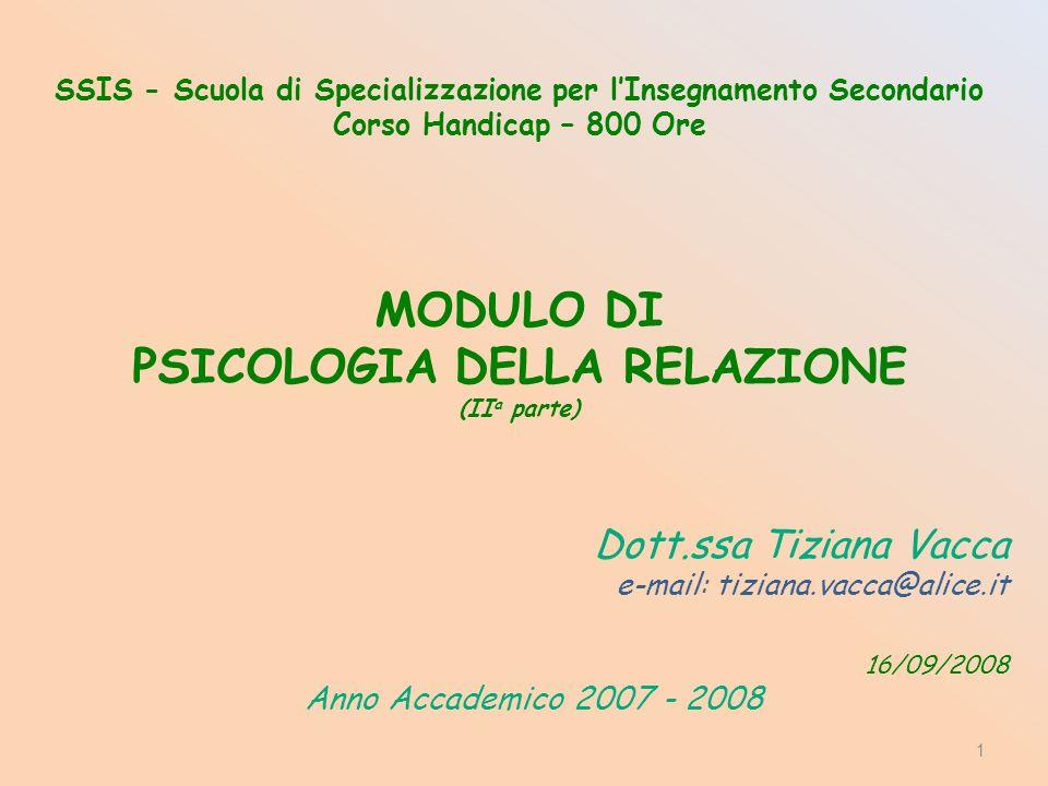 Dott.ssa Tiziana Vacca Anno Accademico 2007 - 2008
