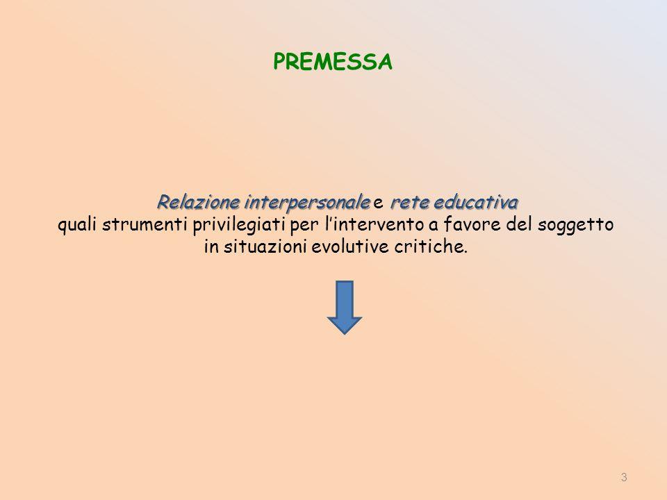 Relazione interpersonale e rete educativa