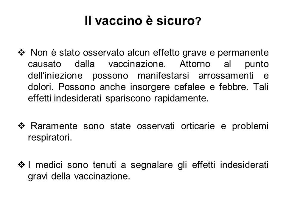 Il vaccino è sicuro